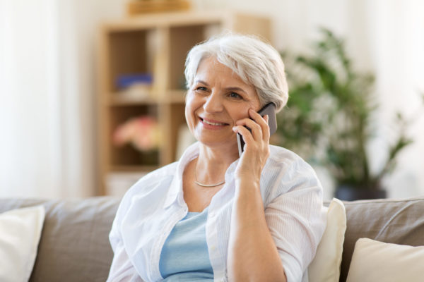 Woman calling on mobile phone